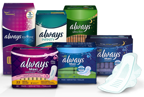 Always Products $1.50 off One Always Pad and One Always Liner Coupon