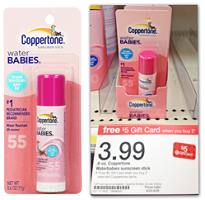 Coppertone Sunscreen Stick Coppertone Water Babies Sunscreen Stick for $0.49 at Target