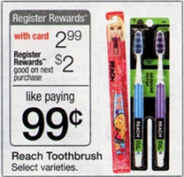 walgreens reach FREE Reach Toothbrushes at Walgreeens 7/28 8/3