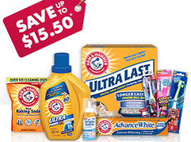 Arm Hammer Coupons1 $15.50 in Arm & Hammer Product Coupons
