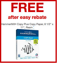 HammerMill Copy Plus Copy Paper FREE HammerMill Copy Plus Copy Paper Ream at Staples