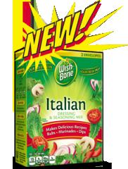 Wishbone Dry Italian Dressing Seasoning $0.70 off Wish Bone Dry Dressing & Seasoning Mix Coupon