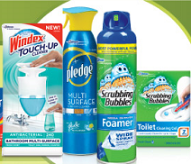 windex and cleaning products Scrubbing Bubbles, Windex, Glade, and Pledge Coupons