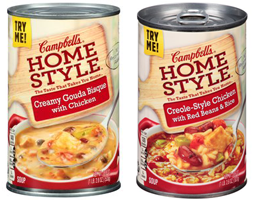 Campbells Homestyle Soups $0.75 off ANY Two Campbells Homestyle Soups Coupon