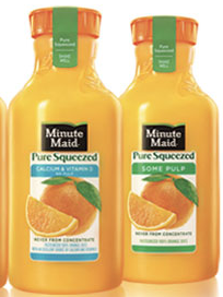Minute Maid Pure Squeezed $1 off Minute Maid Pure Squeezed Coupon