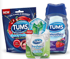 TUMS Products $1 off TUMS Chewy Delights, Freshers or Smoothies Antacid Coupon