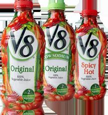 V8 Veggie Juice $1 off 2 V8 100% Vegetable Juice Coupon
