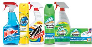 Windex Pledge Shout NEW Scrubbing Bubbles, Windex, Pledge and Shout Coupons