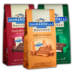 Ghirardelli Squares $2 off Ghirardelli Squares Stand Up Bag Coupon