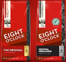 Eight O Clock Coffee $1 off Bag of Eight O'Clock Coffee Coupon