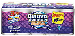 Quilted Northern 30 Double Rolls $2 off Quilted Northern 30 count Double Roll+ Coupon