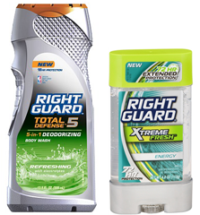 Right Guard Deodorant and Body Wash Buy 2 Get One FREE Right Guard Personal Care Products Coupon