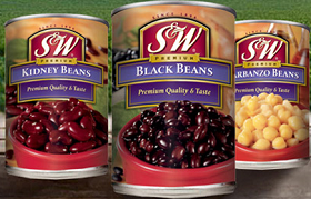 SW Beans $1 off 3 Cans of S&W Beans Coupon