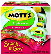 Motts Snack and go1 $1 off Four Pack of Motts Snack 'n Go Applesauce Coupon