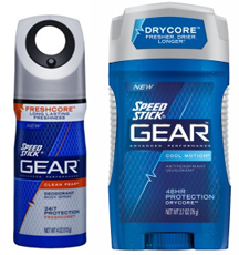 Speed Stick GEAR Deodorant $2 off Speed Stick GEAR Deodorant, Antiperspirant or Body Spray Coupon
