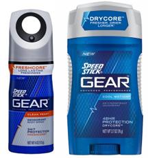 Speed Stick GEAR Deodorant $2 off Speed Stick GEAR Deodorant, Antiperspirant or Body Spray Coupon