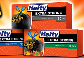 Hefty Large Black Trash Bags $1 off Hefty Large Black Trash Bags Coupon