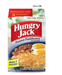 Hungry Jack Hashbrown Potatoes $0.50 off ANY Hungry Jack Hashbrown Potatoes Coupon
