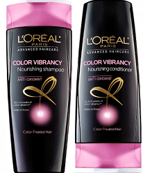 LOreal Color Vibrancy Shampoo and Conditioner $1 off Loreal Paris Product Coupon