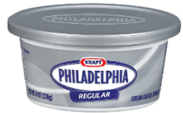 PHILADELPHIA Soft Cream Cheese Spread1 $0.50 off PHILADELPHIA Soft Cream Cheese Spread Coupon