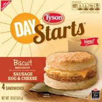 Tyson Day Starts Breakfast Product $1 off Tyson Day Starts Breakfast Product Coupon