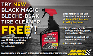 Black Magic Bleche Blak Tire Cleaner FREE Black Magic Bleche Blak Tire Cleaner (Mail in Rebate)