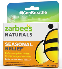 ZarBees Naturals Seasonal Relief Over $20 in NEW Zarbees Seasonal Relief Coupons