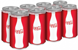 8 pack cans of Coca Cola Product 300x194  $1 off 2 Mini Can Products of the Coca Cola Company Coupon
