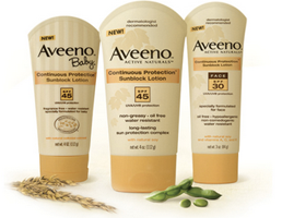 Aveeno-Suncare-Products