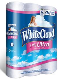 White Cloud 3 Ply Bath Tissue BOGO FREE White Cloud 3 Ply Bath Tissue Coupon