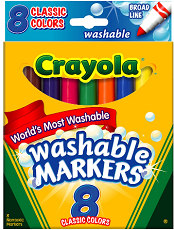 Crayola Washable Markers11 $3 off a $15 Purchase of Crayola Products Coupon
