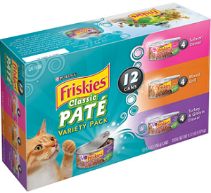 Variety Pack of Purina Friskies Cat Food $1 off Variety Pack of Purina Friskies Cat Food Cans Coupon