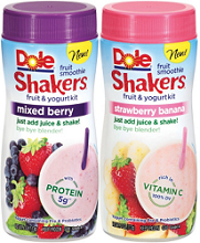 Dole Shakers Walmart: Dole Fruit Smoothie Shakers For $0.75