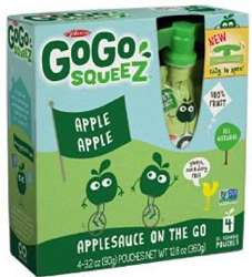 GoGo Squeez Pack $.75 off 4 Pack or 12 Pack of GoGo Squeez Coupon