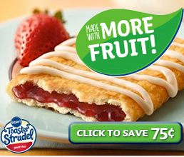 Pillsbury Toaster Strudel Coupon $.75 off Pillsbury Toaster Strudel, Toaster Scrambles or Pancakes Coupon