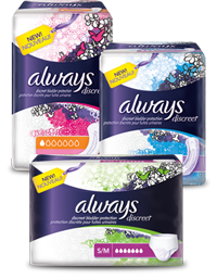 Always Discreet NEW Always Discreet Product Coupons
