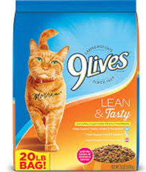 Bag of 9Lives Lean Tasty Cat Food 3 NEW 9Lives Cat Food Coupons