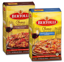 Bertolli Classics Meals for Two $2 off Two Bertolli Classics Meals for Two Coupon