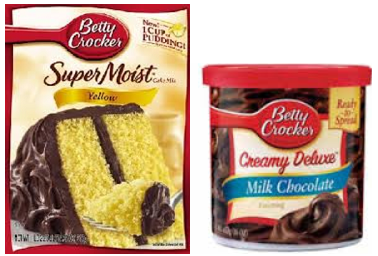 Betty Crocker Cake Mix and Frosting $1 off Both Betty Crocker Cake Mix and Betty Crocker Frosting Coupon