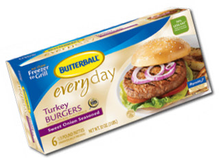 photograph relating to Butterball Coupons Turkey Printable identified as $1.00 off Butterball Frozen Turkey Burgers Coupon (Mailed