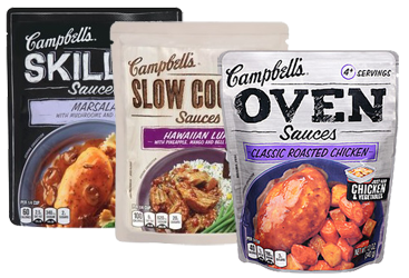 Campbells Sauces $1 off ANY TWO Campbells Skillet, Slow Cooker or NEW Oven Sauces Coupon