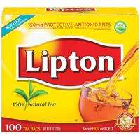Lipton Black Tea Bag Carton $1 off ANY Lipton Black Tea Bag Carton Coupon