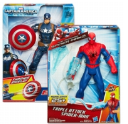 Triple Attack Spider Man Hulk Toy $5 off Triple Attack Spider Man, Captain America or Shake 'N Smash Hulk Toy