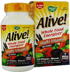 Alive Multi vitamin $7.50 in Alive! Vitamin Coupons