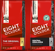 Eight O Clock Coffee $1 off Bag of Eight O'Clock Coffee Coupon