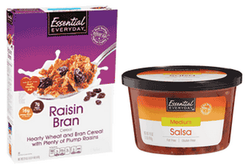 Essential Everyday Dry Cereal and Refrigerated Salsa $1 off Essential Everyday Brand Dry Cereal & Refrigerated Salsa Coupons