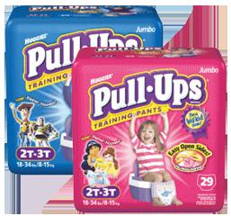 Huggies Pull Ups Training Pants $4 off 2 Packs of Pull Ups Training Pants Coupon