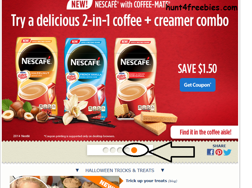 1 50 Off Nescafe With Coffee Mate Coffee Creamer Coupon Hunt4freebies