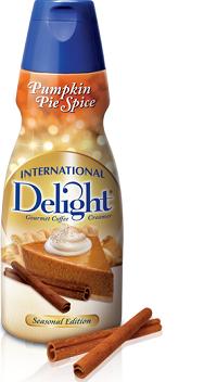 International Delight Pumpkin $2 off 3 International Delight Pumpkin Pie Spice Coffee Creamer Coupon
