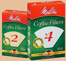 Melitta Cone Filters $1 off 100 Count Melitta Cone Filters Coupon